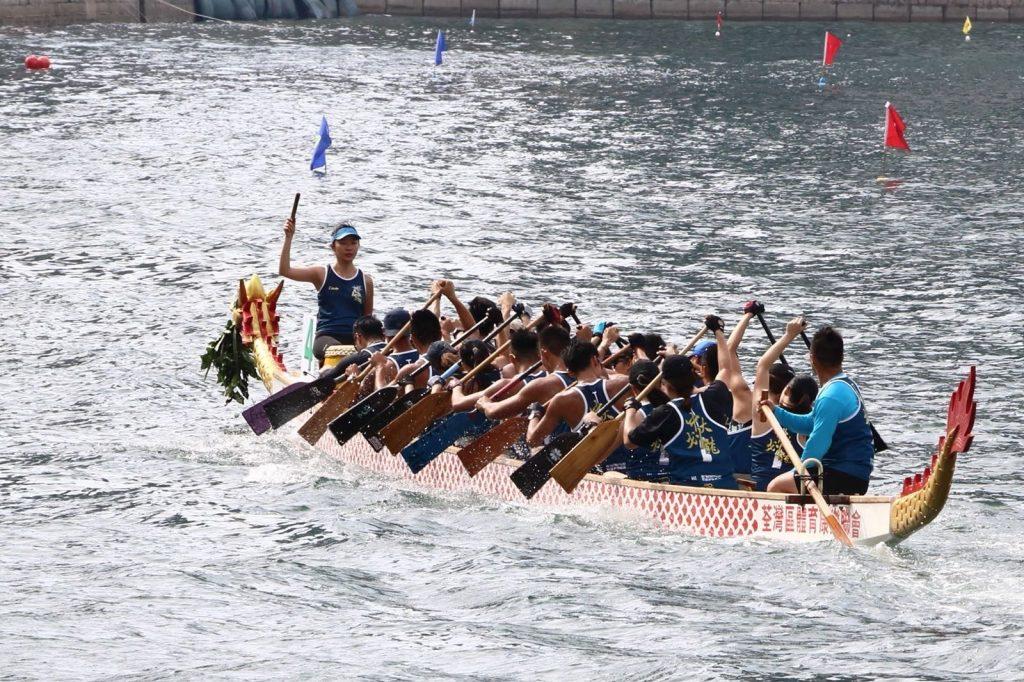 Dragon boat team in Hong Kong